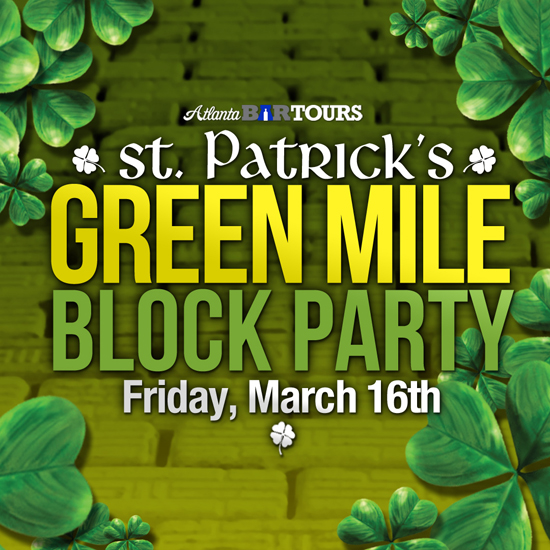 Pre-sale Tickets for Green Mile Midtown Party • St. Patrick's Day in Atlanta