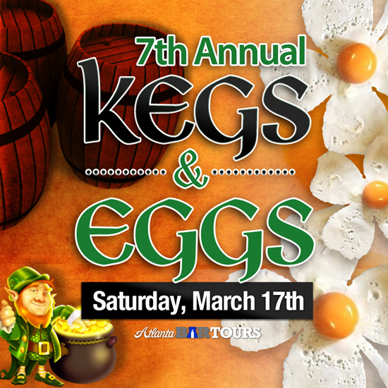 Pre-sale Tickets for Kegs & Eggs Virginia Highland • St. Patrick's Day in Atlanta