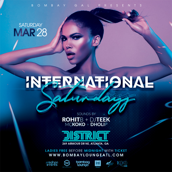 Pre-sale Tickets for Bombay Lounge: International Saturdays  in Atlanta