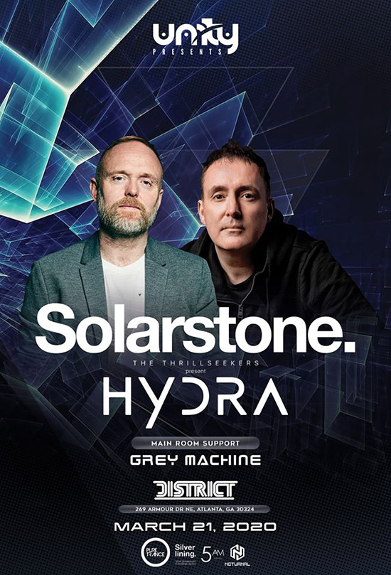 Pre-sale Tickets for Solarstone & The Thrillseekers present Hydra in Atlanta