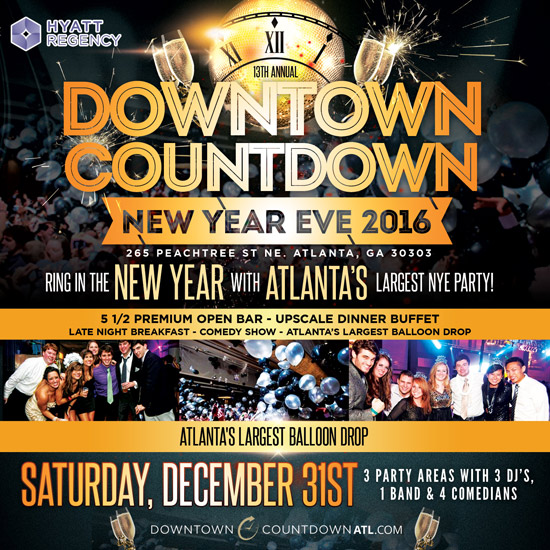 Pre-sale Tickets for Downtown Countdown 2017 in Atlanta