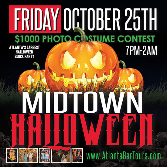 Pre-sale Tickets for Midtown Halloween Block Party in Atlanta
