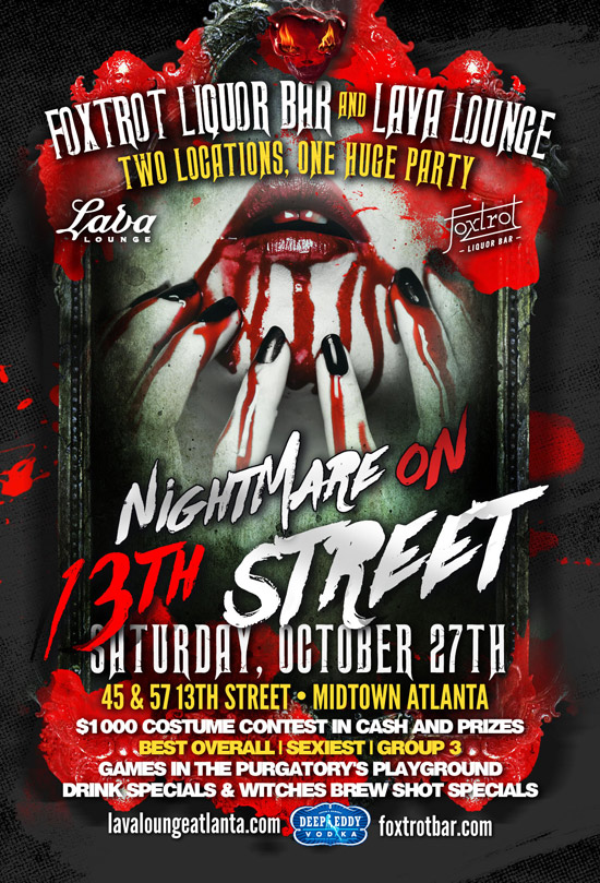 Pre-sale Tickets for 12th Annual Nightmare on 13th Street in Atlanta