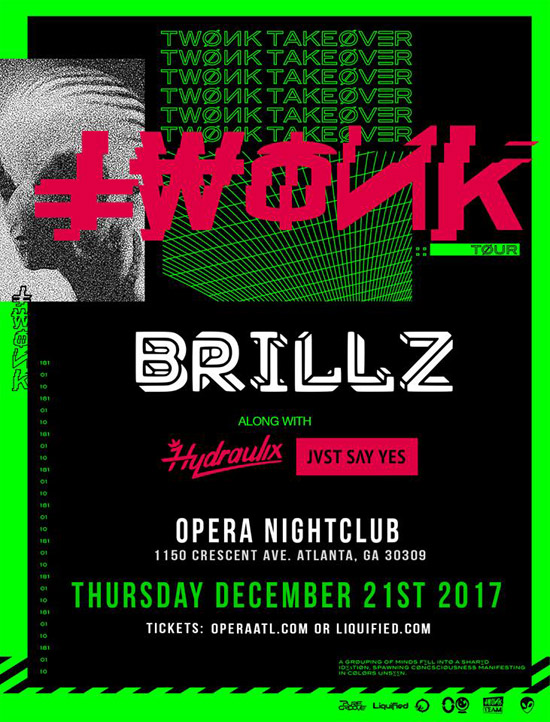 Pre-sale Tickets for Brillz with Hydraulix and Jvst Say Yes in Atlanta