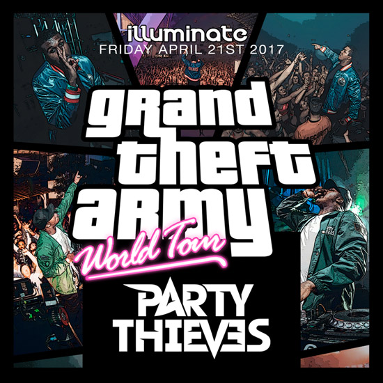 Pre-sale Tickets for Party Thieves - Grand Theft Army World Tour in Atlanta