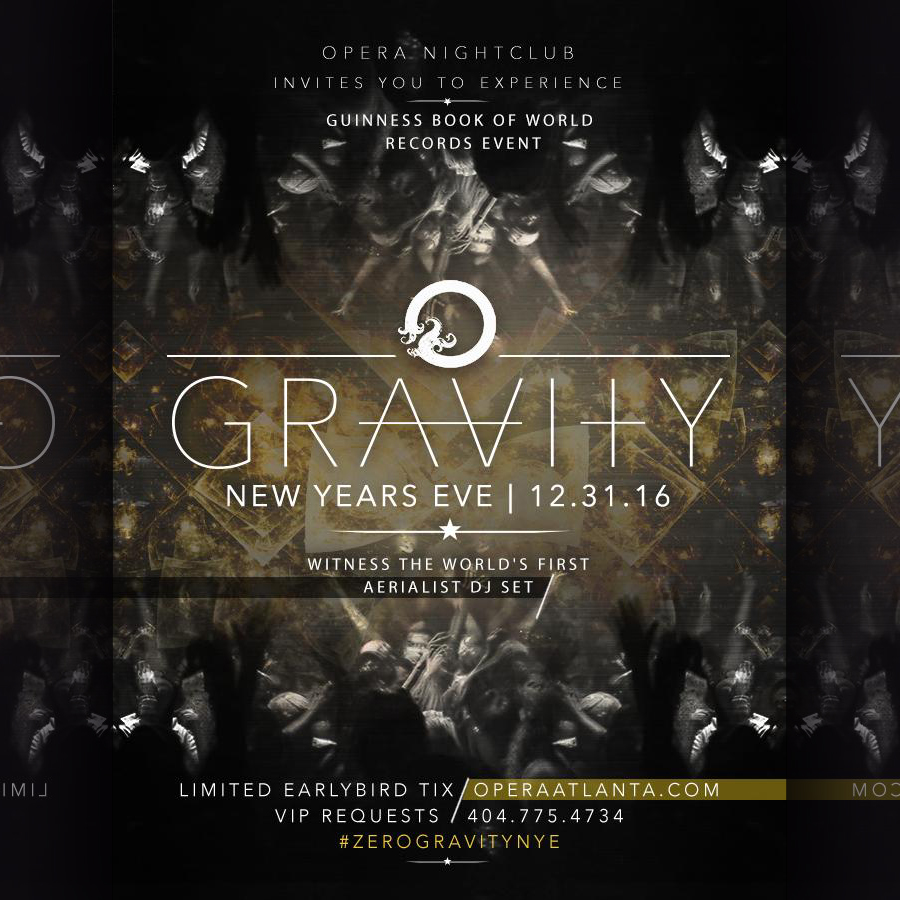 Pre-sale Tickets for GRAVITY - New Year's Eve 2017 in Atlanta