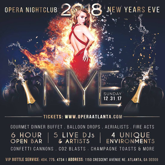 Pre-sale Tickets for NEW YEAR'S EVE 2018: Fire & Ice in Atlanta