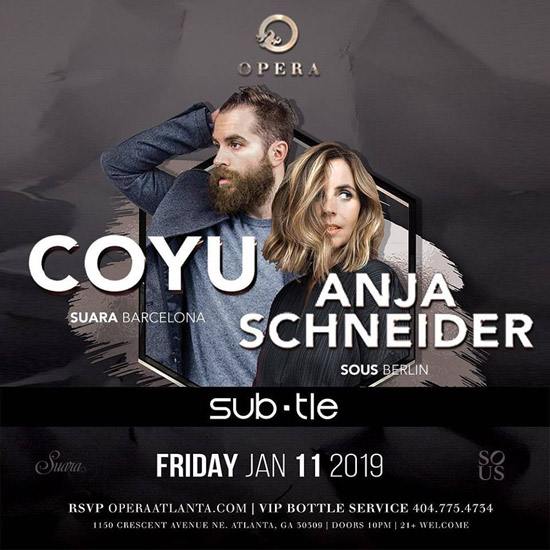 Pre-sale Tickets for Coyu and Anja Schneider in Atlanta