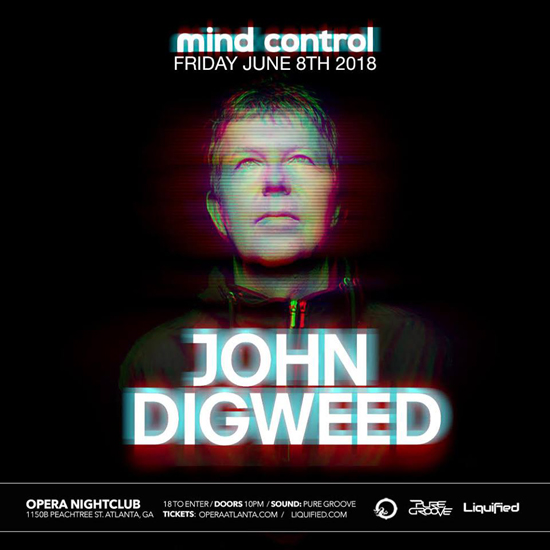 Pre-sale Tickets for Legendary DJ, John Digweed Returns in Atlanta