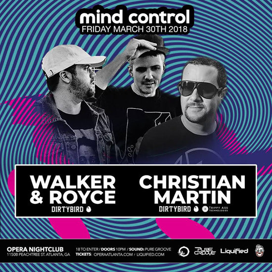 Pre-sale Tickets for Mind Control - Walker & Royce and Christian Martin in Atlanta