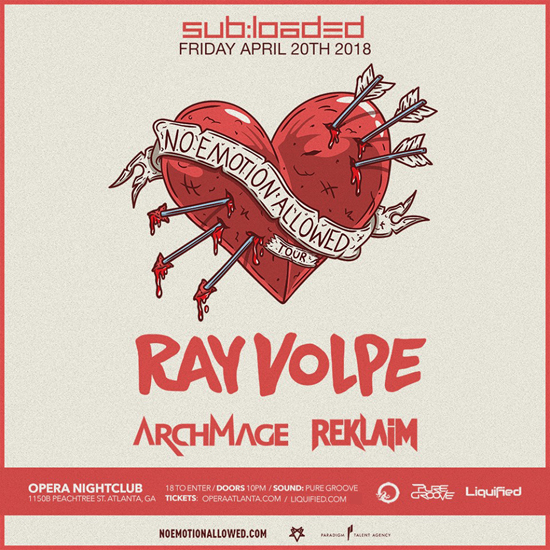 Pre-sale Tickets for Ray Volpe with Eclipse, ArchMage and Reklaim in Atlanta