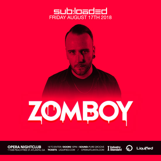 Pre-sale Tickets for Zomboy in Atlanta