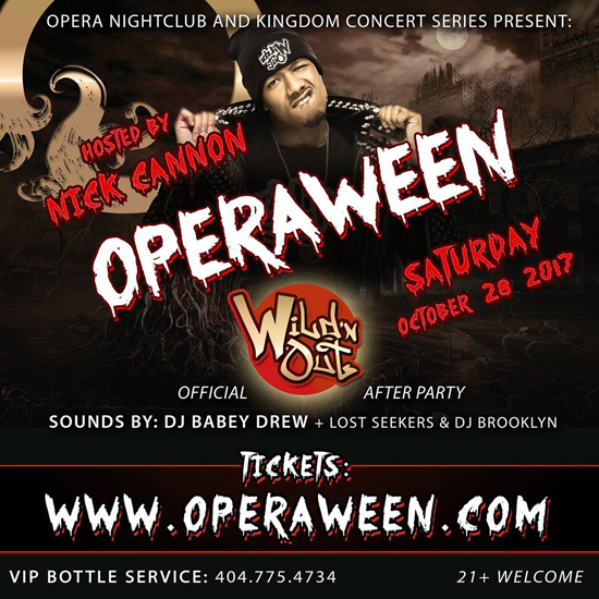 Pre-sale Tickets for Operaween: Celebrity Halloween Bash W/ Nick Cannon in Atlanta