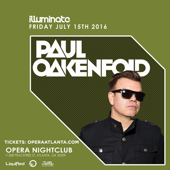 Pre-sale Tickets for Paul Oakenfold in Atlanta