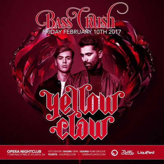 Pre-sale Tickets for Yellow Claw in Atlanta