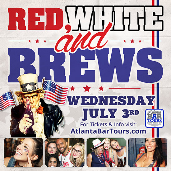 Pre-sale Tickets for Red, White & Brews Bar Bash in Atlanta