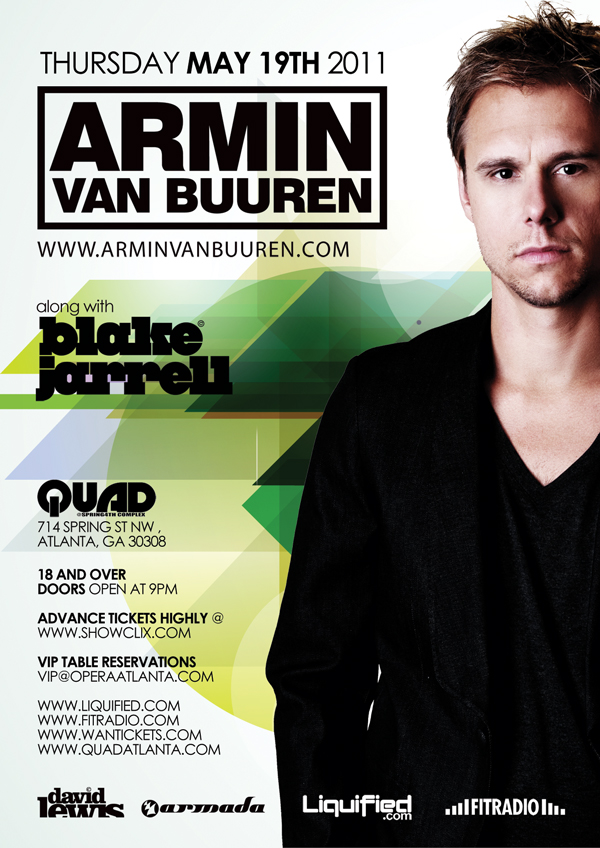 Pre-sale Tickets for ARMIN VAN BUUREN in Atlanta