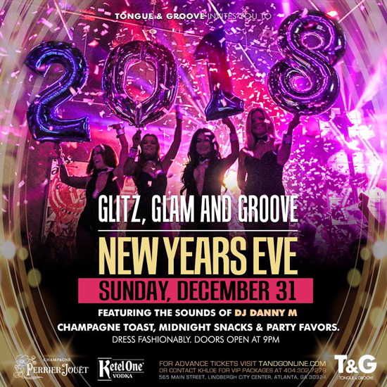 Pre-sale Tickets for Glitz, Glam & Groove - New Year's Eve in Atlanta