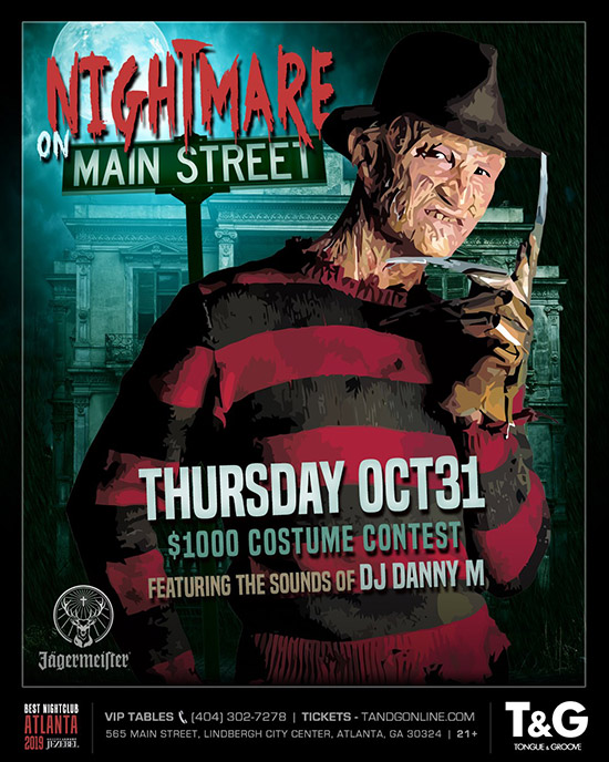 Pre-sale Tickets for Nightmare on Main Street - Halloween Night $1000 Costume Contest in Atlanta